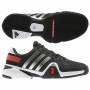 Adidas Men's Barricade 8 Tennis Shoes (Black/ Silver/ Red)