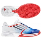 Adidas Women's CC adiZero Tempaia II Tennis Shoes (Blue/ White/ Red) - Lightweight Tennis Shoes