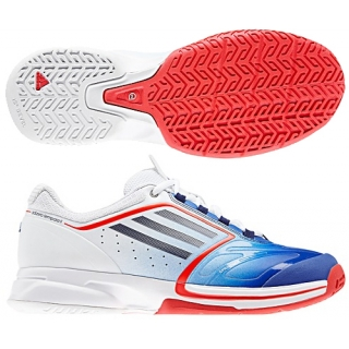 Adidas Women's CC adiZero Tempaia II Tennis Shoes (Blue/ White/ Red)