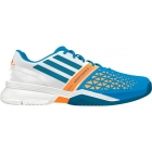 Adidas Men's CC adiZero Feather III Tennis Shoes (Blue/ White/ Orange) - Lightweight Tennis Shoes