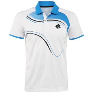 Lotto Men's LED Polo (White/ Blue)
