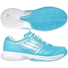 Adidas Women's adiZero Tempaia II (Blue/ White) - Adidas adiZero Tennis Shoes