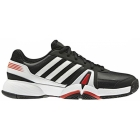 Adidas Men's Bercuda 3 Tennis Shoes (Black/ White/ Red) - Men's Tennis Shoes