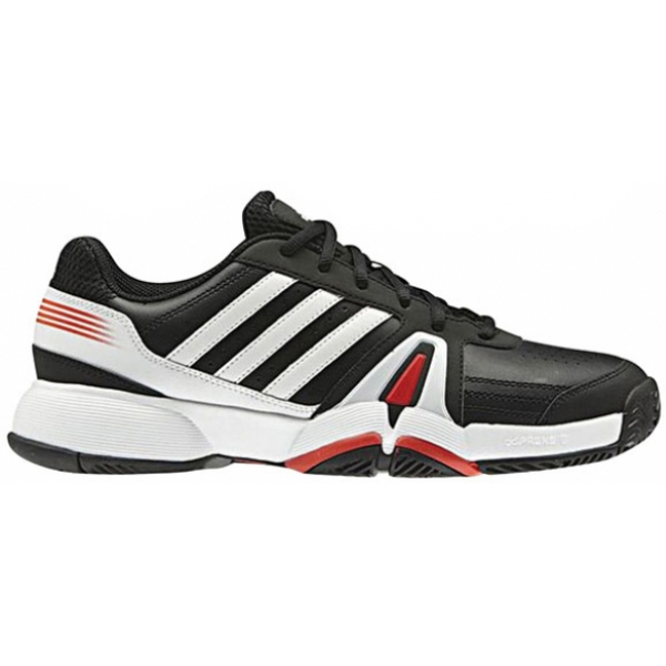 Adidas Men's Bercuda 3 Tennis Shoes (Black/ White/ Red)