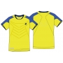 Lotto Men's Matrix Tech T-Shirt (Yellow/ Blue)