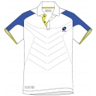 Lotto Men's Matrix Tech Polo (White/ Blue) - Men's Tops Polo Shirts Tennis Apparel