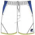 Lotto Men's Matrix Tech Shorts (White/ Blue) - Lotto Men's Apparel Tennis Apparel