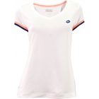 Lotto Women's Shela T-Shirt (White/ Navy) - Lotto Apparel & Shoe Blowout Tennis Apparel