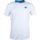 Lotto Men's Australian Open Crew Shirt (White/ Blue) - Lotto Tennis Apparel