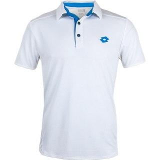 Lotto Men's Australian Open Polo (White/ Blue Moon)