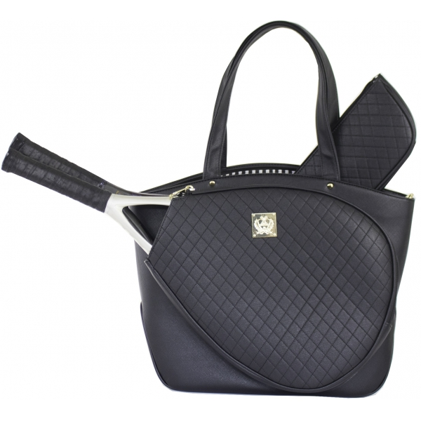 Court Couture Cassanova Tennis Bag (Quilted Black)