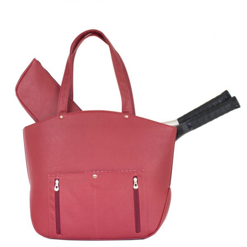 Court Couture Cassanova Tennis Bag (Quilted Ruby)