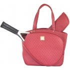 Court Couture Cassanova Tennis Bag (Quilted Ruby) - Designer Tennis Bags - Luxury Fabrics and Ultimate Functionality