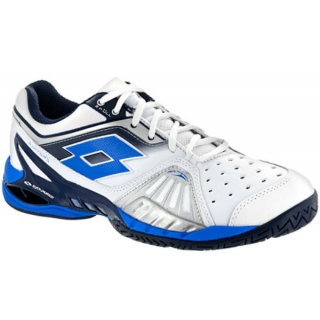 Lotto Men's Raptor Ultra IV Tennis Shoes (White /Aviator Blue)