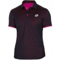 Lotto Men's David Ferrer 1000 Polo (Navy/ Pink)