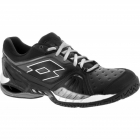 Lotto Men's Raptor Ultra IV Tennis Shoes (Black/ Silver) - Lotto Tennis Shoes