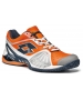 Lotto Men's Raptor Ultra IV Clay Court Tennis Shoes (White/ Orange/ Navy) - Shoes