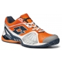 Lotto Men's Raptor Ultra IV Clay Court Tennis Shoes (White/ Orange/ Navy)