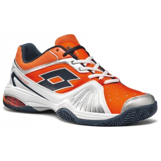 Lotto Men's Vector VI Tennis Shoes (White/ Orange)