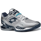 Lotto Men's Raptor Evo Tennis Shoes (Silver/ Navy) - Tennis Shoe Brands