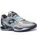 Lotto Men's Raptor Evo Tennis Shoes (Silver/ Navy) - Lotto