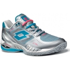 Lotto Women's Raptor Evo Tennis Shoes (Silver/ Blue) - Women's Tennis Shoes