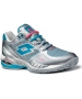 Lotto Women's Raptor Evo Tennis Shoes (Silver/ Blue) - Lotto