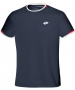 Lotto Men's Aydex T-Shirt (Navy Blue / Red) - Tennis Apparel