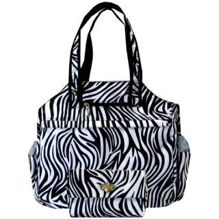 Jet Racing Stripes (Zebra) Tennis Tote Bag