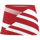 DUC Radar Women's Tennis Skirt (Red/ Wht) - DUC Women's Apparel Tennis Apparel