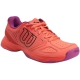 Wilson Kaos Comp Junior Tennis Shoes (Radiant Red/Coral Punch/Azalee Pink) - New Tennis Shoes