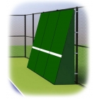Rally Master 10 x 12 Back-Sloped Backboard (8°) - Sloped Tennis Rebound Walls