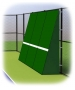 Rally Master 10 x 12 Back-Sloped Backboard (8°) - Rally Master Tennis Equipment