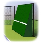 Rally Master 10 x 24 Back-Sloped Backboard (8°) - Sloped Tennis Rebound Walls