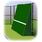 Rally Master 10 x 32 Back-Sloped Backboard (8°) - Sloped Tennis Rebound Walls