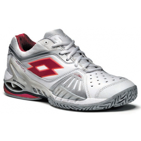 Lotto Women's Raptor Ultra Tennis Shoes (White/ Red)