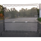 Courtmaster Deluxe Tennis Rebound Net and Frame 9'W x 7'H, #221 - Tennis Equipment Types