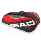 Head Tour Team 6 Pk Combi Tennis Bag (Red/Black) - 6 Racquet Tennis Bags