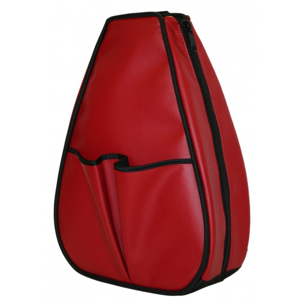 40 Love Courture Red Faux Leather Sophi Backpack