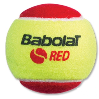 Babolat Kids Stay and Play Red Felt Tennis Ball (24 Ball Bag)