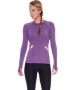 Bloq-UV Long Sleeve Reflective Waist Tennis Top (Purple) - Women's Tops