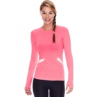 Bloq-UV Long Sleeve Reflective Waist Tennis Top (Watermelon) - Women's Warm-Ups