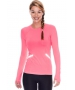 Bloq-UV Long Sleeve Reflective Waist Tennis Top (Watermelon) - Women's Tops