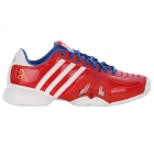 Adidas Barricade Novak Pro Mens Tennis Shoes (Blue/ Red /White) - Adidas Barricade Tennis Shoes