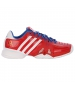 Adidas Barricade Novak Pro Mens Tennis Shoes (Blue/ Red /White) - Tennis Shoes
