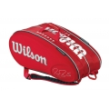 Wilson Federer Limited Edition 15 Pack Tennis Bag (Red/ Wht)