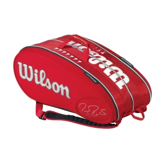 Wilson Roger Federer Limited Edition 15 Pack Tennis Bag (Red/ White)