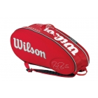 Wilson Federer Limited Edition 9 Pack Tennis Bag (Red/ White) - Wilson Tennis Bags