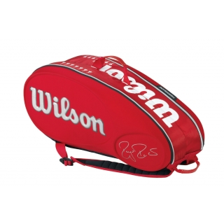 Wilson Federer Limited Edition 9 Pack Tennis Bag (Red/ White)
