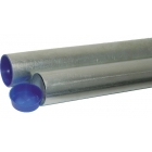 Round Galvanized Sleeves For 2 7/8 Inch Pickleball Posts   - Courtmaster